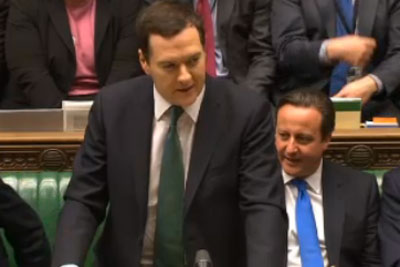 Chancellor George Osbourne delivering the Autumn statement. Credit: BBC