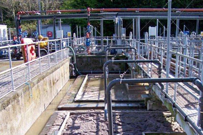 Primary sewage tanks at Camels Head works in Plymouth (credit: Environment Agency)