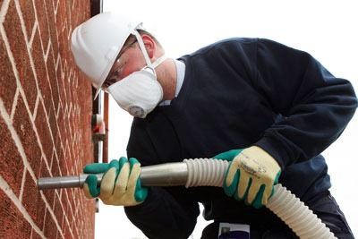 Adding solid-wall insulation. Credit: Mint Photography/ Alamy