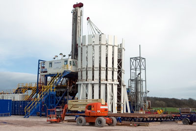 A 'typical' 12-well shale gas site could earn councils £1.7m, but how much they would receive for a single exploratory well is not clear (photograph: Cuadrilla)