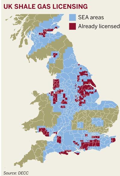 UK shale gas licensing