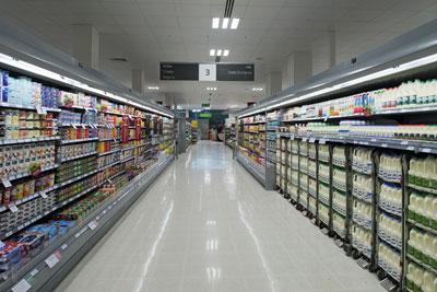 HFC-free refrigerators in Waitrose. Credit: Waitrose
