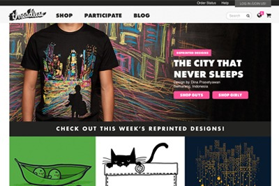 Online T-shirt retailer, Threadless, supplies to order and is an example of a small, innovative and sustainable enterprise