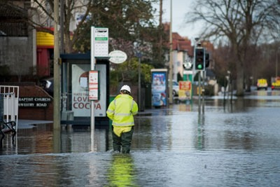 Flooding in Oxford. Credit: Roger Askew/ Alamy