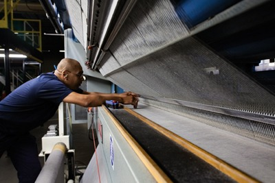 Carpet maker Interface says adopting a 'new industrial model' could cut CO2 emissions by 90% per unit of output