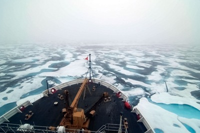 Shipping in the Arctic is on the rise as summer ice reaches record lows (photograph: Ash, CC by SA 2.0)