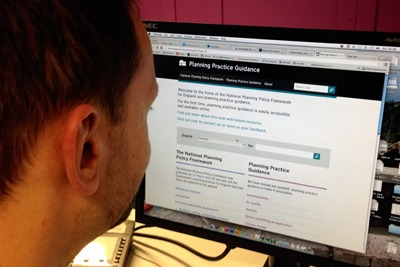 The government launched its new planning policy website on 6 March