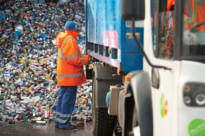 Can recycling at Sita's Yate site. Credit: Sita