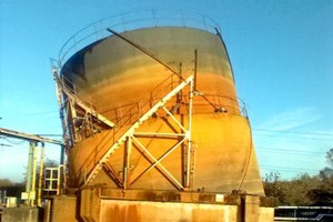 A catastrophic failure of one of United Utilities' biogas holders led to a dangerous leak (photograph: Environment Agency)