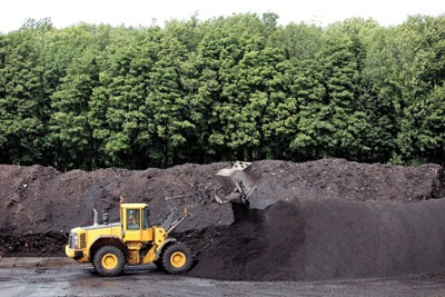 Veolia composts all of its green waste, selling about 100,000 tonnes a year. Credit: Veolia