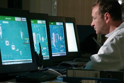 Energy recovery control room: jobs in the waste sector are becoming more technical (photograph: Veolia Environmental Services)