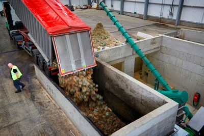 Severn Trent's Coleshill AD plant will be run on food waste from local schools and businesses (photograph: Severn Trent)