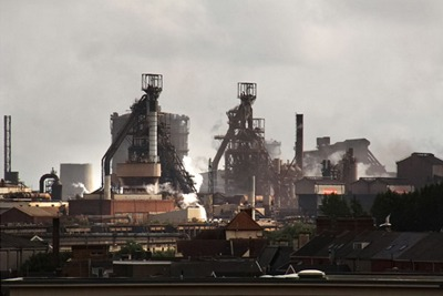 Tata Steel's Port Talbot works: the steelworks changed its dust suppressant and reduced the temperature of its production process (photograph: Ben Salter, CC BY 2.0)