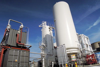 Highview's 350kW, 2.5MWh liquid air-based pilot plant in Slough. Credit: Highview Power Storage