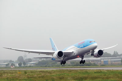 Thomson's 787 Dreamliner is 20% more fuel efficient. Credit: Thomson