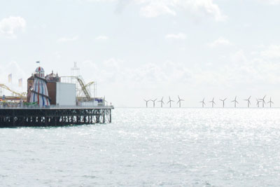 The Rampion wind farm will be built 13km off the Sussex coast near Brighton and Hove (image: Eon Energy)