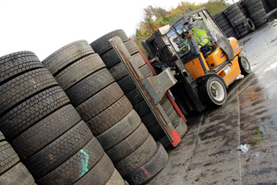The Tyre Recovery Association is considering joining the EPRAS scheme (photograph: Bandvulc Group)