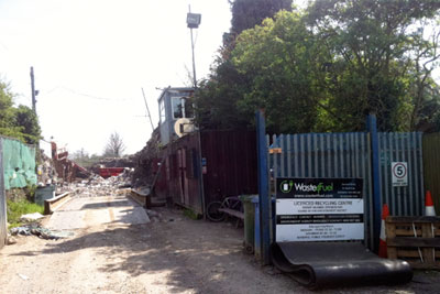 The Waste4Fuel site Orpington was deemed a fire hazard by the Environment Agency (photograph: Isabella Kaminski)