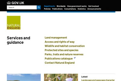 Natural England's website has now moved to gov.uk