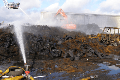 Illegal activity at the City Industrial Waste site in Mobuoy, Derry, sparked a major inquiry into the country's waste industry (photograph: DOENI)