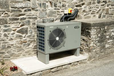 Air-source heap pumps: popular choice (photograph: KBI Images/Alamy)
