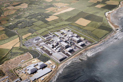 An artist's impression of EDF's Hinkley C (credit: EDF Energy)