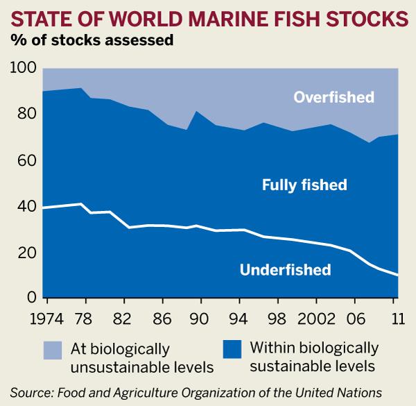 Figure: State of world marine fish stocks