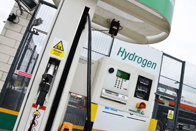 Sainsbury's has teamed with hydrogen infrastructure company AirProducts to install a hydrogen dispenser at its Hendon store in north London (photograph: Air Products and Chemicals)