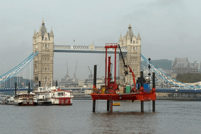 Thames tunnel investigation rig