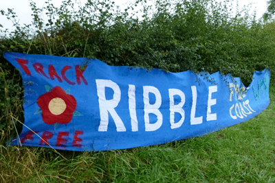 An anti-fracking group has protested at sites in Lancashire where Cuadrilla hopes to explore for shale gas (photograph: Victoria Buchan-Dyer, CC BY 2.0)