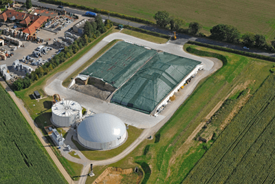 Anaerobic digestion plant at Spring Farm, Taverham, Norfolk (photograph: ADBA)