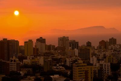 Lima, Peru, at sunset (photograph: Juan Jose Gabaldon Alarcon/Dreamstime.com)