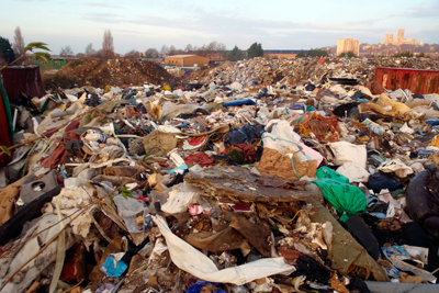Shaun Nigel Dixon deposited thousands of tonnes of waste illegally at a site in Lincoln (photograph: Environment Agency)