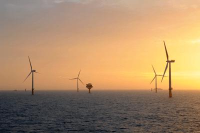The Sheringham Shoal offshore wind farm (photograph: Statkraft)