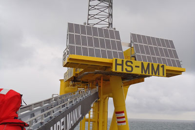 A meteorological mast in the Hornsea zone (photograph: SMart Wind)