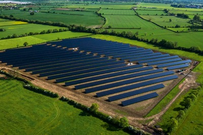 Green bonds were issued to support Big60Million's Willersey Solar Farm in the Cotswolds (photograph: Big60Million and Belectric UK)