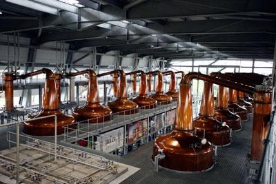 The Roseisle distillery in Scotland has a bioenergy plant slashing fossil fuel use by 50%