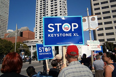 The Keystone XL pipeline continues to generate controversy an local protests (photograph: Eric Broder Van Dyke/123RF)