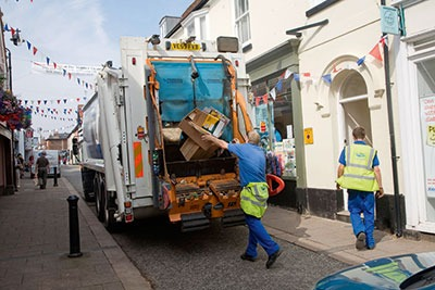 Rubbish collection (photograph: Geogphotos/Alamy)
