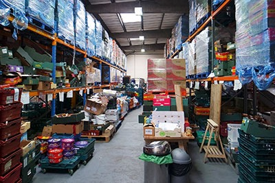 FareShare redistributes edible 'waste' to help relieve food poverty (photograph: Simon Roach)