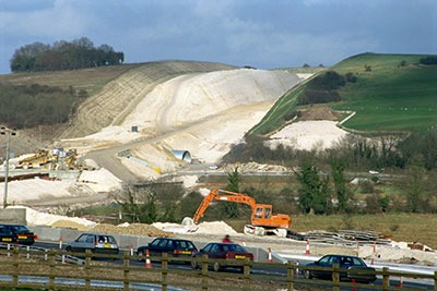 Twyford Down and 'environmental scar' (photograph: Robert Harding Picture Library Ltd/Alamy)