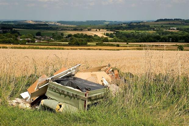 Some 852,000 fly-tipping incidents were reported by English councils last year (photograph: Philip Teale/123RF)