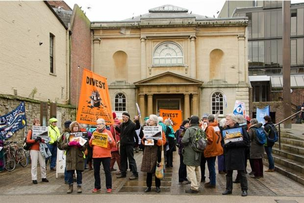 The divestment movement has been spearheaded by civil society and student groups but now has major international backing (photograph: Kamyar Adl/Fossil Free Oxforshire Divestment Campaign/CC BY 2.0 via Flickr)