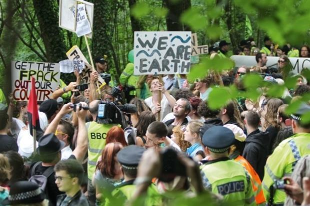 Protest against fracking (photograph: Rsokoloff/dreamstime.com)