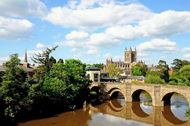DECC says Hereford, sitting on the River Wye, could exploit the heat in its waters (photograph: arenaphotouk/123RF)