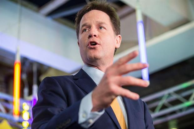 Nick Clegg, leader of the Liberal Democrats, delivers his party's manifesto (photograph: Liberal Democrats/CC BY-ND 2.0 via Flickr)