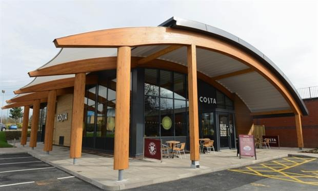 The Costa Coffee shop has achieved the highest provisional energy performance certificate rating of A+