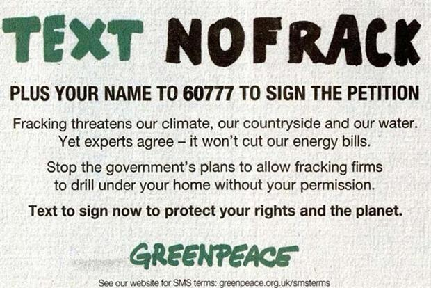 Greenpeace fracking ad