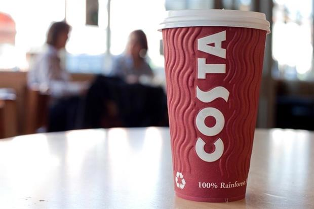 The group, which owns Costa,has reduced its carbon intensity by 32.8% (photograph: Whitbread)