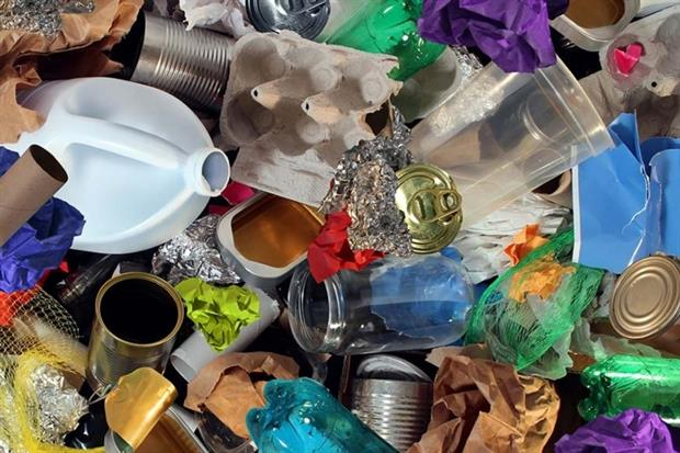 Plastic, glass and metal recycling